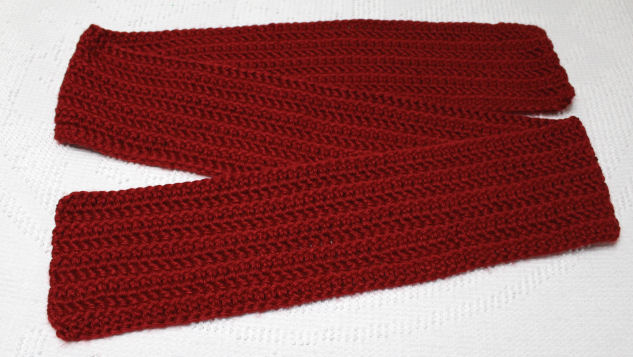super bulky scarf 1-14-2018 red