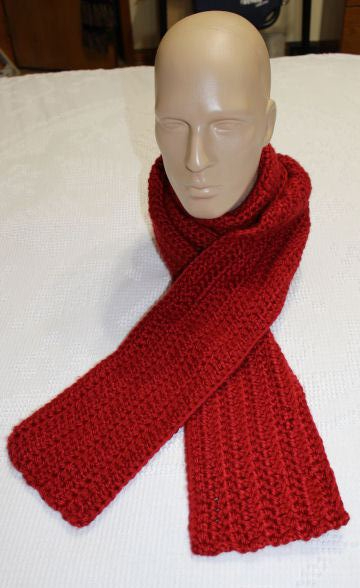 super bulky scarf on mannequin 1-14-2018 red