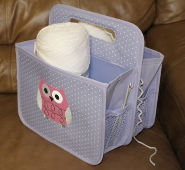 owl tote with yarn-hooks 7-2018