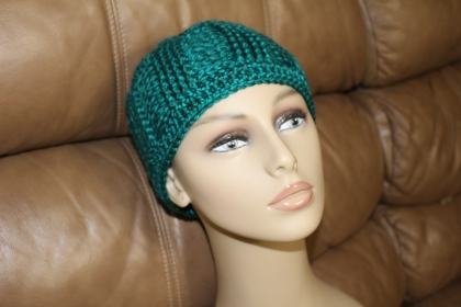 chemo hats modeled (3)