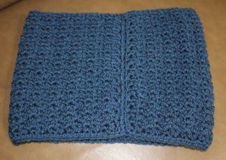 cowl blue back seam